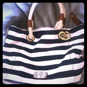 Michael Kors Medium Nautical Striped Tote